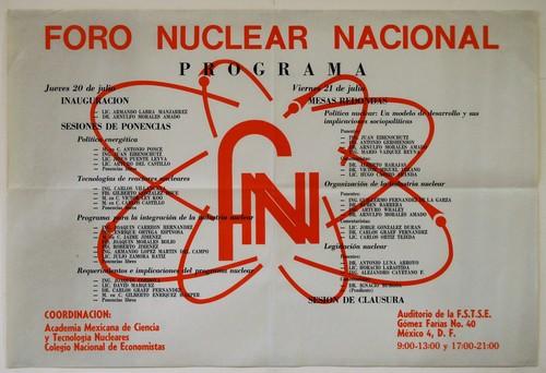 Foro Nuclear Nacional ( Dos ejemplares)
