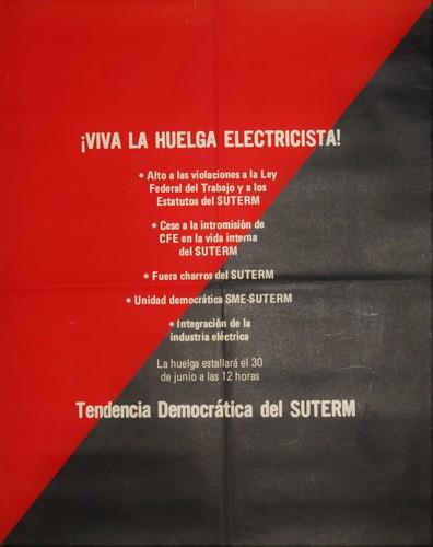Viva la Huelga Electricista, Tendencia Democratica SUTERM