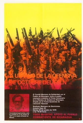 Apoyo al pueblo combatiente de Nicaragua.