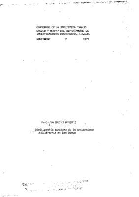 Bibliografía mexicana de la Universidad de California en San Diego