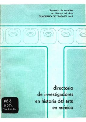 Directorio de investigadores de historia del arte en México