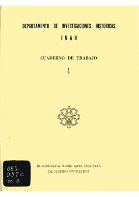 Bibliografía sobre arte colonial de Justino Fernández