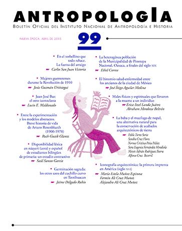 Antropología Num. 99 (2015)