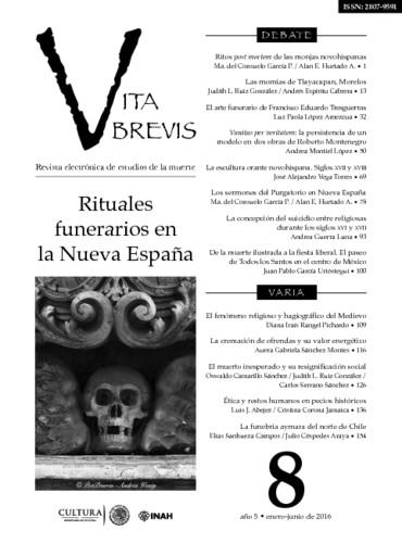 Vita Brevis Num. 8 (2016) Rituales funerarios en la Nueva España