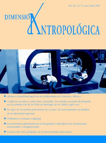 Dimensión Antropológica Vol. 72 (2018)