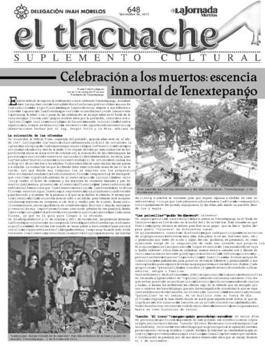 El Tlacuache Num. 648 (2014)