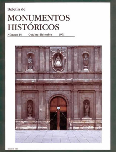 Boletín de Monumentos Históricos Núm. 15 (1991) (Segunda Época)