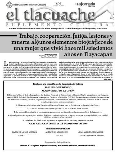El Tlacuache Núm. 697 (2015)