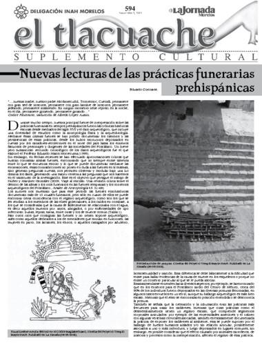 El Tlacuache Núm. 594 (2013)