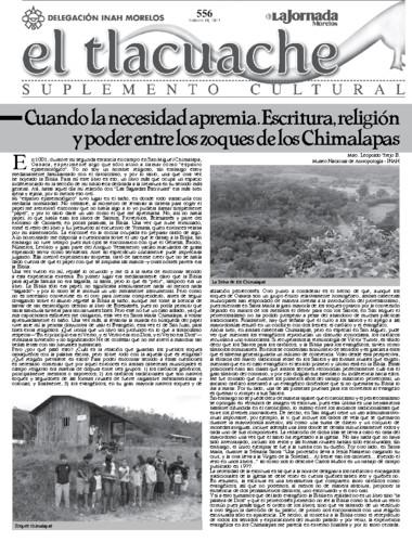 El Tlacuache Núm. 556 (2013)