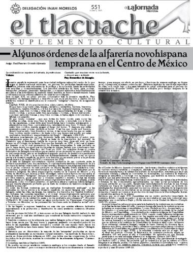 El Tlacuache Núm. 551 (2013)