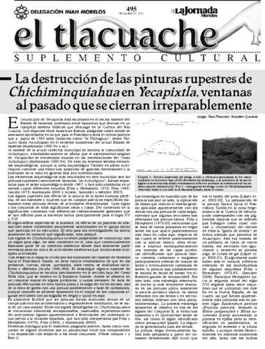 El Tlacuache Núm. 495 (2011)