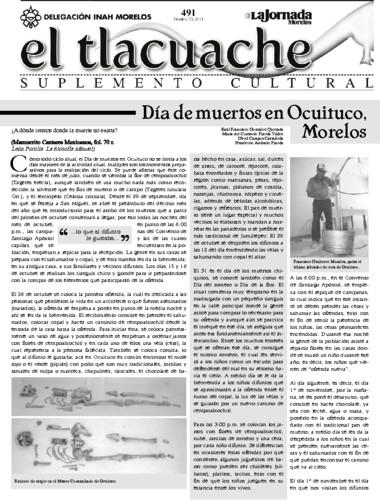 El Tlacuache Núm. 491 (2011)