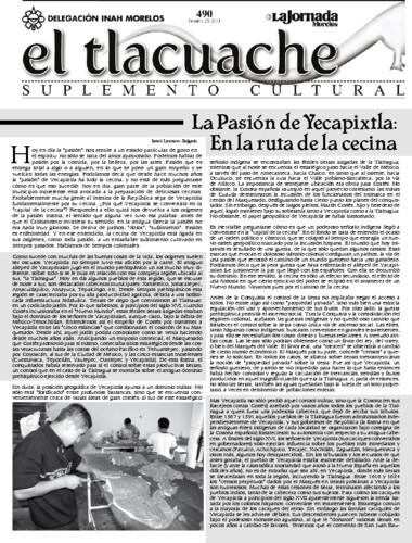 El Tlacuache Núm. 490 (2011)