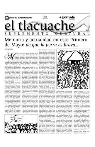 El Tlacuache Núm. 415 (2010)