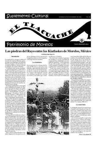 El Tlacuache Núm. 66 (2002) Segunda parte