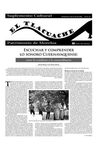 El Tlacuache Núm. 319 (2008) Primera parte