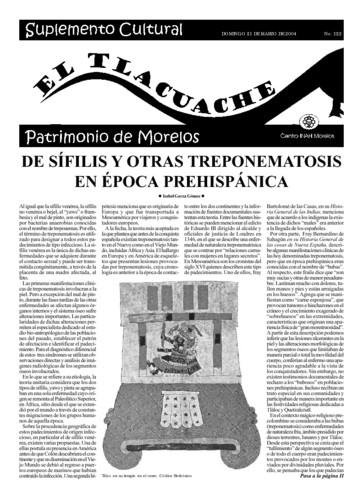 El Tlacuache Núm. 122 (2004)