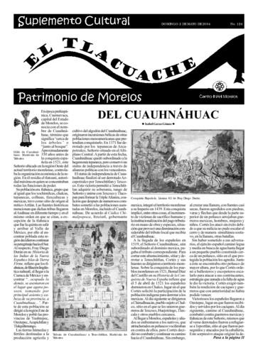 El Tlacuache Núm. 124 (2004)
