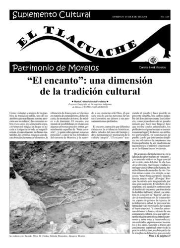 El Tlacuache Núm. 130 (2004)