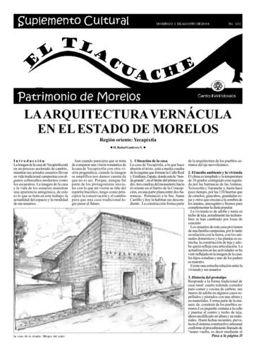 El Tlacuache Núm. 131 (2004)