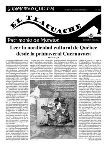 El Tlacuache Núm. 134 (2004)