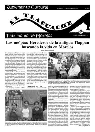 El Tlacuache Núm. 142 (2004)