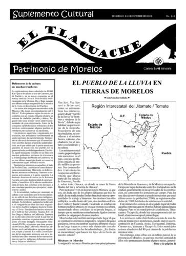 El Tlacuache Núm. 143 (2004)