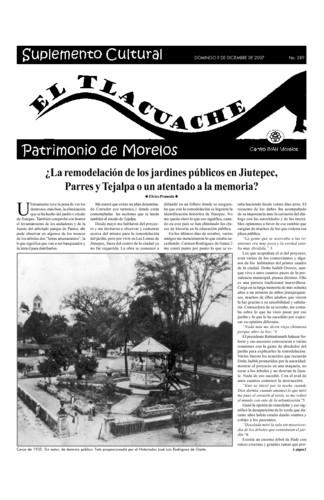 El Tlacuache Núm. 289 (2007)