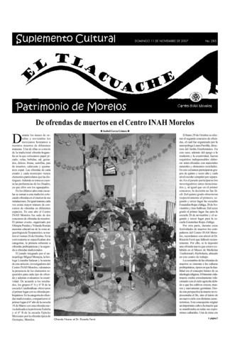 El Tlacuache Núm. 285 (2007)