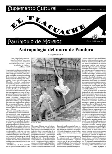El Tlacuache Núm. 148 (2004)