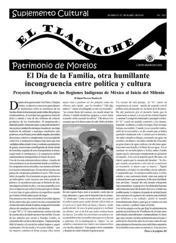 El Tlacuache Núm. 162 (2005)