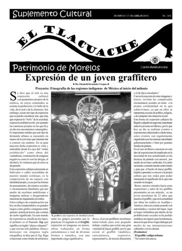 El Tlacuache Núm. 165 (2005)