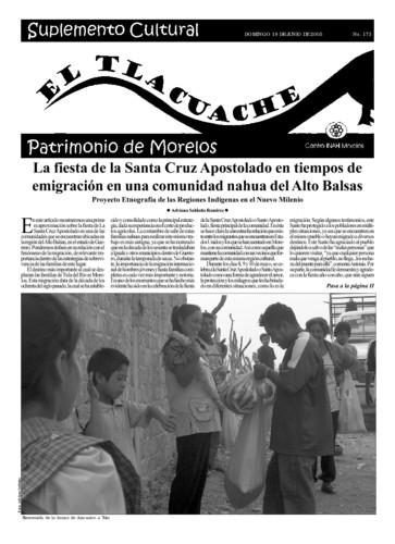 El Tlacuache Núm. 173 (2005)