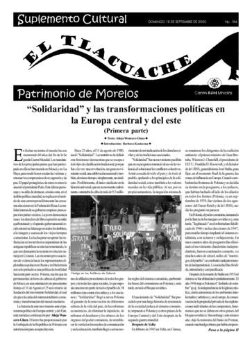 El Tlacuache Núm. 184 (2005)