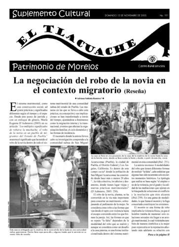 El Tlacuache Núm. 191 (2005)