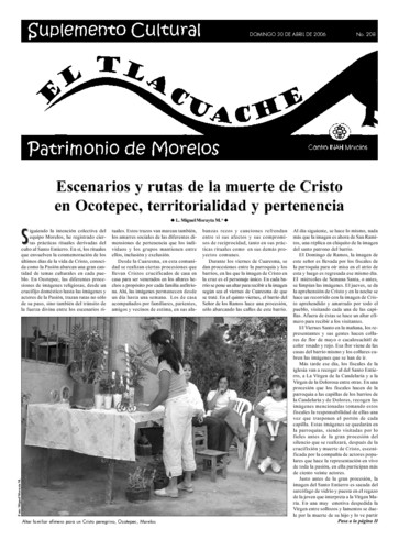 El Tlacuache Núm. 208 (2006)