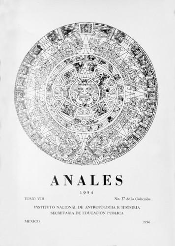 Anales del Instituto Nacional de Antropología e Historia. Num. 37 Tomo VIII (1954) Sexta Época (1939-1966)