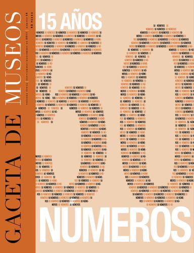 Gaceta de Museos -  Num. 50 (2011) 15 años 50 números