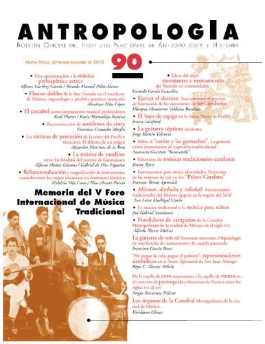 Antropología Num. 90 (2010) Memoria del V Foro Internacional de Música Tradicional