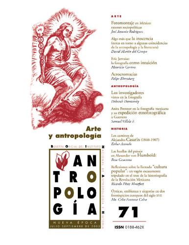 Antropología Num. 71 (2003) Arte y antropología