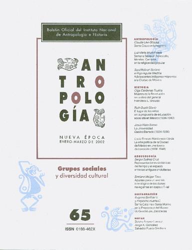 Antropología Num. 65 (2002) Grupos sociales y diversidad cultural