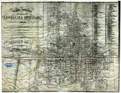 Plano General de la Capital de la República Mexicana