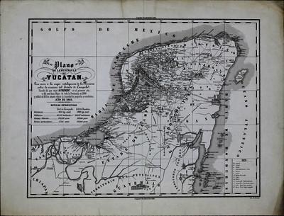 Plano de la península de Yucatán