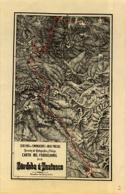 Carta del Ferrocarril de Córdoba a Huatusco