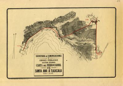 Carta del Ferrocarril de Santa Ana a Tlaxcala