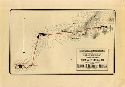 Carta del Ferrocarril de Toluca a San Juan de las Huertas