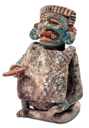 Vasija con representación de Itzamnaaj, deidad de los cielos