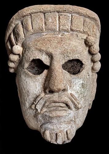 Escultura en estuco del Templo IX
