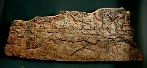 Facsimilar de la pintura mural Altar Tzompantli o de las Calaveras